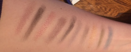 Avon eyeshadow swatches
