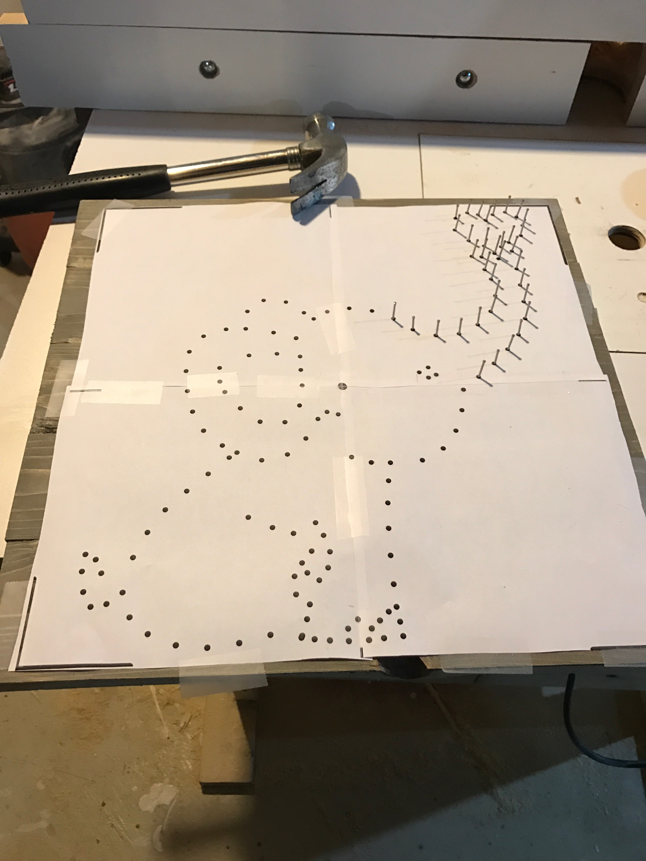 String Art Project Baby Elephant Beauty Amp Brains